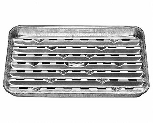 50 Stk. Alu-Grillpfanne Grillschalen BBQ, 34.4 x 22.4cm, mehrfach verwendbar / Diese Aluschale bewahrt den typischen Holzkohle-Grillgeschmack. Das Grillgut haftet nicht an der Schale und lässt sich gut wenden. Fett tropft nicht in die heiße Glut und verhindert so dass gefährliche Giftstoffe entstehen.