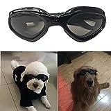 Zongsi Hundebrille Fashion Haustier Hund Sonnenbrille Eye Wear Hund Wasserdicht Schutz UV Sonnenbrille Schutzbrille für kleine Mittelhunde(Schwarz)