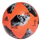 adidas Herren Bola Glider Fifa World Cup Ball, Solar Red/Black/Silver Metallic, 5