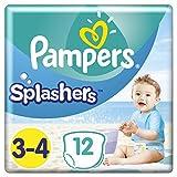 Pampers Splashers 12Einweg-Schwimmwindeln,Größe3-4