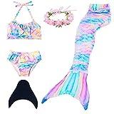Meerjungfrau Schwanz Badeanzug Prinzessin Bademode Bikini Sets (XX-Small, Rainbow)