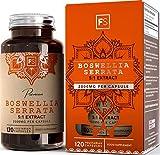 FS Weihrauch-Kapseln Hochdosiert | Boswellia serrata 5:1 Extrakt — 2000 mg pro Kapsel | 120 vegane Kapseln | Gegen Schmerzen & Entzündungen | Keine Zusatzstoffe — Ohne GVO, Gluten & Milch