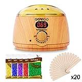 GEARGO Wachswärmer mit LCD-Display Wax Electric Waxing Kit, 500ml Einstellbare Temperatur Heißwachs-Maschine und automatische Abschaltfunktion