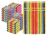 npluseins Waschhandschuhe Multi-Pack - Waschlappen Baumwolle bunt 1442.2027, 4 Packs (24 Stück)