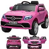 SIMRON - Mercedes-Benz GLE63s GLE 63s AMG SUV Ride-On 12V Kinderauto Kinderfahrzeug Pink/Rosa