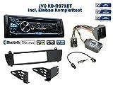 BMW X3 E83 (ohne Werkseitiger Navi) Autoradio Einbauset *Schwarz* inkl. JVC KD-R871BT und Lenkrad Fernbedienung Adapter