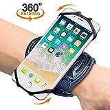 """Sport Armband MATONE 360°Rotation Handgelenk Handytasche für iPhone X/8 Plus/8/7/6s, Galaxy Note 9/S9 Plus/ S9/S8/S7 & andere 4""""-6.5"""" Telefone, Handy armband mit Schlüsselhalter für Joggen Radfahren (Schwarz)"""