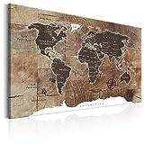 murando - Bilder 120x80 cm - Leinwandbilder - Fertig Aufgespannt - 1 Teilig - Wandbilder XXL - Kunstdrucke - Wandbild - Poster Weltkarte Welt Landkarte Kontinente k-C-0050-b-d