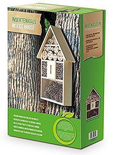 XXL 50 cm Insektenhotel Natur / Nistkasten Insektenhaus aus Holz für Bienen, Schmetterlinge, Käfer & andere Tiere