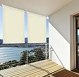 Sonnenschutz Rollo Aussenrollo Sichtschutz Balkon creme 180x230cm 302660414-VH