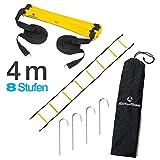 #DoYourFitness Koordinationsleiter/Fitnessleiter - Länge 4m 6m 8m - Trainingsleiter (ENGL. Agility Ladder) BZW. Konditionsleiter für Beweglichkeitsübungen/Schnelligkeitstraining
