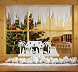 Winterdeko EISZAPFEN- GIRLANDE. 1 Stück. 500 x 30cm. Aus SCHNEEWATTE, 2cm dick. Art: 80252