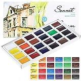Sonnet Aquarellfarbe Set Hochwertig- Zur Auswahl: 16 oder 24 Farben - Qualität (16er Set)