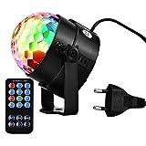 Discokugel Disco Licht Disco Lichteffekte Disco Lampe Disco Beleuchtung Partylicht Partybeleuchtung Bühnenbeleuchtung DJ Licht mit Motor, Fernsteuerung