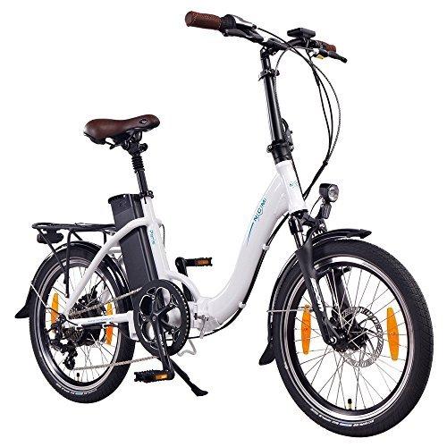 NCM Paris 20 Zoll E-Bike,E-Faltrad,36V 15Ah 540Wh Akku,250W Das-Kit Heckmotor,mechanische Scheibenbremsen (Paris Weiß)