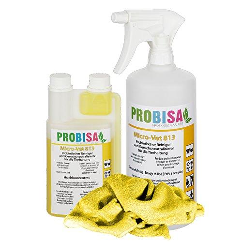 Geruchsneutralisierer Spray gegen Gerüche von Katzen-Urin, Hund, Nager und Haustiere (Set - Konzentrat ergibt 25 Liter gebrauchsfertiges Bio Reinigungsmittel)