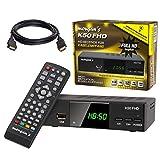 Kabel Receiver Kabelreceiver - DVB-C HB-DIGITAL HD Receiver für digitales Kabelfernsehen mit Aufnahmefunktion PVR für Flach- & Röhrenfernseher (HDMI, SCART, USB, LAN, Mediaplayer, HDTV) + HDMI Kabel