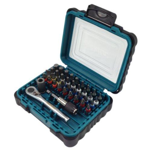 Makita 39 tlg. Bit-Set mit Ratschen Schlüssel P-79158