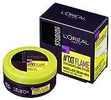 L'Oréal Paris Studio Line #TXT Flame Modellier Cream-Wax, Haarwachs, perfekt für hochfrisierte Styles, 24h extra starker Halt, Ultra Matt-Look, 75 ml