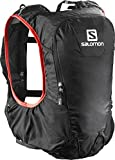 Salomon Leichter Rucksack (10L) fürs Laufen, Hiken oder Radfahren, 40 x 13 x 17 cm, SKIN PRO 10 SET, Schwarz, L37996800