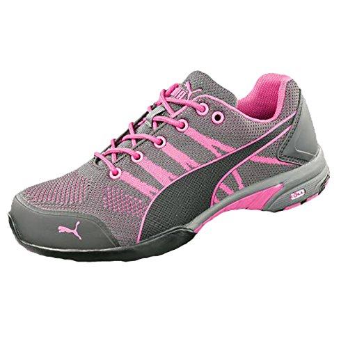 PUMA Damen-Sicherheitsschuh CELERITY KNIT, S1 HRO SRC, pink/schwarz, Größe 39