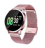 Smartwatch mit Pulsmesser, GOKOO Fitness Armband Wasserdicht IP67 Fitness Tracker Aktivitätstracker Pulsuhren mit Kalorienzähler Schlafmonitor für Damen Herren für IOS Android (Pink)