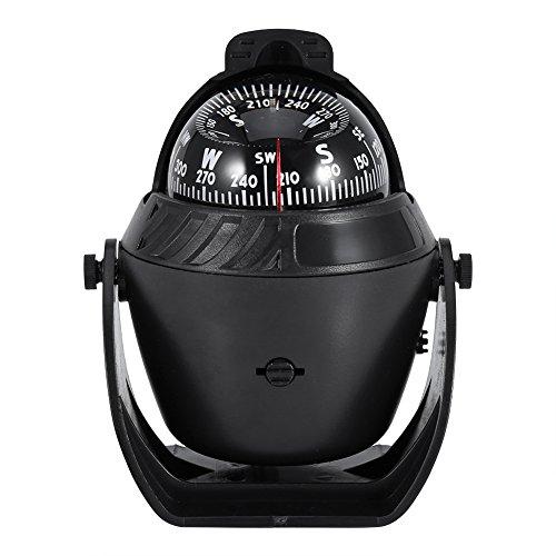 VGEBY Kugelkompass, Hoher Präzisions LED Kugelkompass Navigations Bootskompass Schiffskompass für Marine Boots Auto