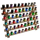 Garnrollenhalter aus Holz - Spulenhalter für 60 Spulen, Garnfäden Organisation, Spulenhalter Wandhalterung, personalisierter Näh Stickerei Quilt Rollenhalter, Nähwerkzeug und Basteln- 29cm x 40cm- Kurtzy