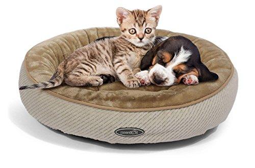 Pecute Hundebett Haustierbett für Katzen und Hunde Ovale Form Weicher Plüsch Haustier-Schlafsack Maschine waschbar (S)