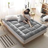 Dicke, warme Futon-Matratze, Lamm, Kaschmir, Tatami-Matratze, dreifach gefaltet, sehr weich, faltbar, für Wohnzimmer, Schlafzimmer 120x200cm(47x79inch) grau