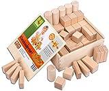 CreaBLOCKS Holzbausteine natur Kleinkindpaket 54 unbehandelte Bauklötze ab 6 Monate Made in Germany