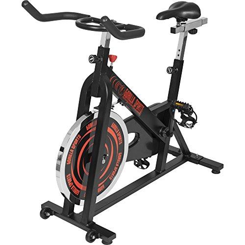 GORILLA SPORTS Indoor Cycling Bike mit 13 kg Schwungrad – Profi-Heimtrainer Fahrrad für Zuhause bis 110 kg belastbar