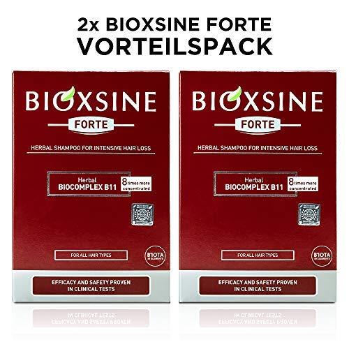 2 x Forte Shampoo bei starkem Haarausfall- für Frau und Mann   mit pflanzlichem Haarwaschmittel das Haarwuchs beschleunigen   schnelles Haar-wachstum   Haarwuchs-mittel 300 ml   von Bioxsine (2x300)