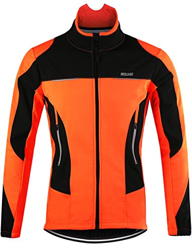 Lakaka-EU MTB Jacke Herren Wasserdicht Fleece Langarm Radsport Jacke Winddicht Herbst Winter Fahrrad Regenjacke