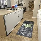 Hanse Home Küchenläufer Basilikum Grau Grün Creme, 80x200 cm
