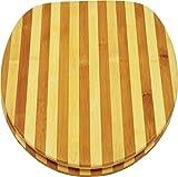 sanicomfort WC-Sitz BAMBUS gestreift, universelle Passfähigkeit, 1846396