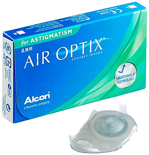 Alcon Air Optix for Astigmatism Monatslinsen weich, 3 Stück / BC 8.7 mm / DIA 14.5 / CYL -0.75 / ACHSE 180 / -3.75 Dioptrien