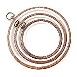 ULTNICE Stickrahmen Ring Kreuzstich Hoop Crochet Kreis für Handliches Nähen 3 Stücke