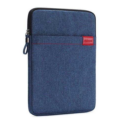 NIDOO 10 Zoll Tablet Hülle Wasserdicht Sleeve Case Etui Tasche Schutztasche für 10.5' iPad Pro / 2017 Neu 9.7' iPad / 10.1' HUAWEI Mediapad M2 / Samsung Galaxy Tab A 10, Blau