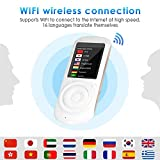 Balscw-F Smart Voice Translator, 2.4' Touch Screen Mini Handheld Simultaneous Two Way Language Translator Device English Chinesisch Spanisch Deutsch Italienisch