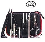 DIY-Werkzeug-Kit mit neuester Spule-Jig-wickelset, Keramik-Pinzette, Spulen-Set, Drahtschneider, Klapp Schere, Spulen Bürste, Schraubenzieher, 1,5 mm bis 3,5 mm für Spulen Jig/Set mit einer tragbaren Box.