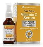 60ml Organic Vitamin C Serum für Ihr Gesicht - 20% Vitamin C in klinischer Stärke + Aminosäurekomplexe + Hyaluronsäure
