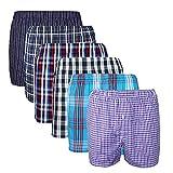 XIAOYAO Herren Boxershorts,Best Basics Boxershorts Hipster American Style Boxer Unterhosen (L, Mehrfarbig (Business))