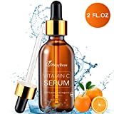 MayBeau 60ml Vitamin C Serum mit 20% Vitamin C + Vitamin E + Hyaluronsäure, 100% Rein und Organisch Anti-Aging, Anti Falten und Pickelmale, Feuchtigkeitsserum für Haut, Gesicht, Dekolleté und Körper