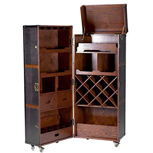Butlers Hemingway Koffer-Bar mit separatem Tablett aus Eschenholz