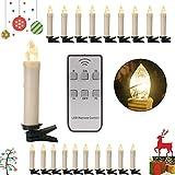 SPEED 20/30/40er LED Lichterkette Kabellos Weihnachtskerzen Christbaumschmuck Weihnachtsbaumbeleuchtung 30*milchweisse Hülle