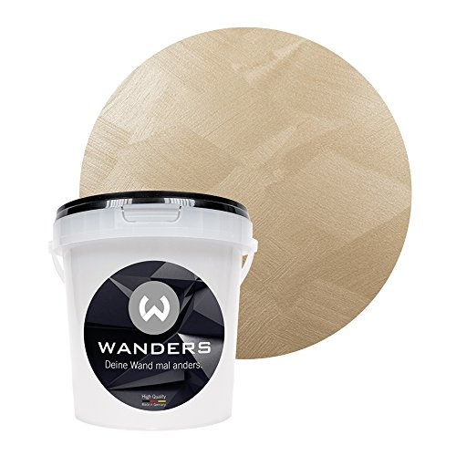 Wanders24 Edel-Metallic (1 Liter, feines Gold) Wand-Farbe zum Streichen im Metallic Look, individuelle Gestaltung für Zuhause, Made in Germany