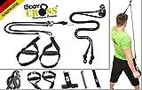 PREMIUM Schlingentrainer Komplettset | Slingtrainer Pro + Slingtrainer mit Umlenkrolle | AUSGEZEICHNET mit dem Siegel für 'Bewegte Innovation 2017' | inkl. Übungsposter, Türanker, Spacer | Made