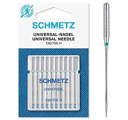 SCHMETZ Nähmaschinennadeln 130/705 H | 10 Universal-Nadeln | Nadeldicke: 70/10