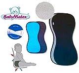 BabyMatex ** PADDIX SCHWARZ ** Atmungsaktive, antiallergische Sitzauflage / Sitzeinlage -- AERO MESH 3D System-- Universal für Babyschale, Autokindersitz, z.B. für Maxi-Cosi, Römer, für Kinderwagen, Buggy, Hochstuhl etc.